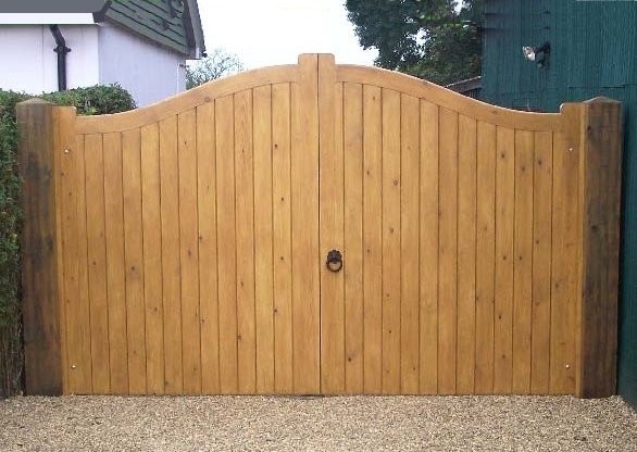 Round Top Tongue Amp Groove Gates Bespoke Gates
