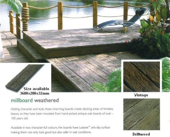 Millboard weathered oak composite decking