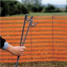 Metal Barrier Stakes Orange Barrier